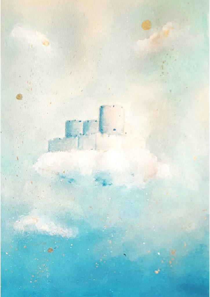 paysage chateau d'If acrylique