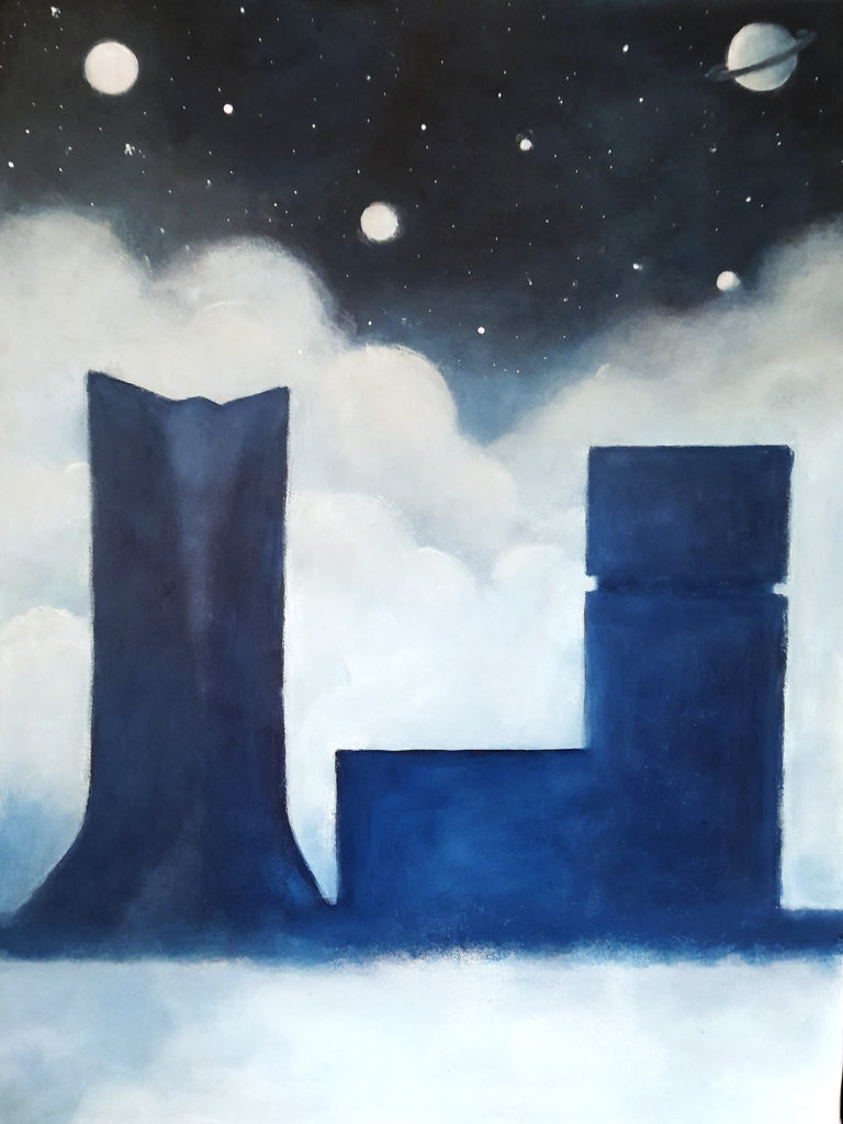 Peinture acrylique Skyline Marseille